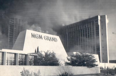 mgm grand on fire