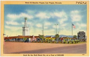 el rancho postcard