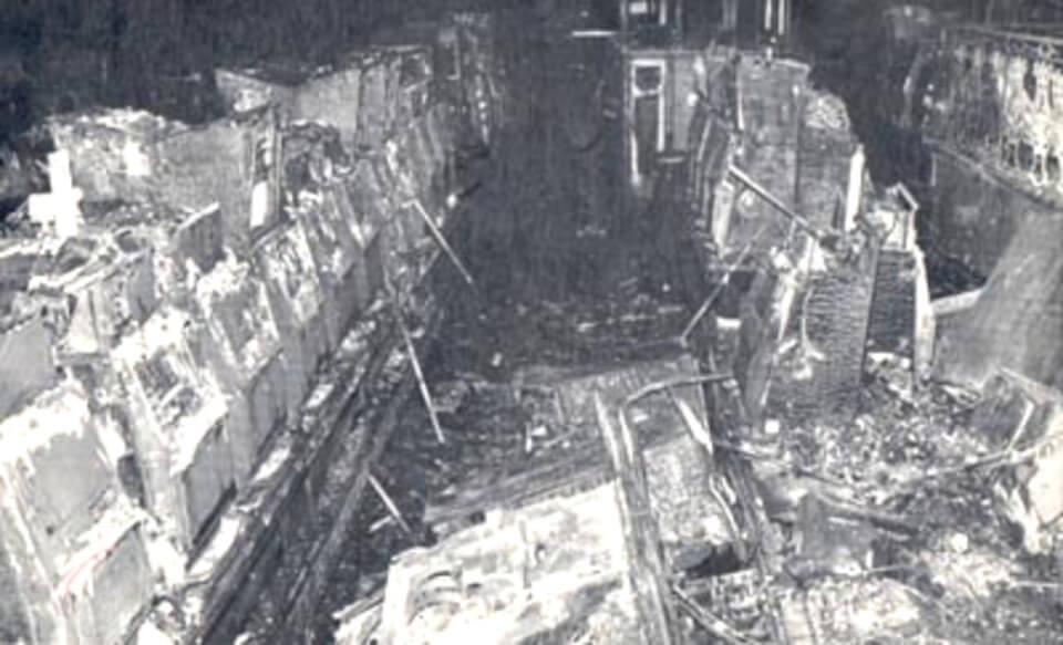 The MGM Casino area after the fire.
