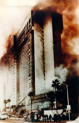 The MGM Grand during the fire.