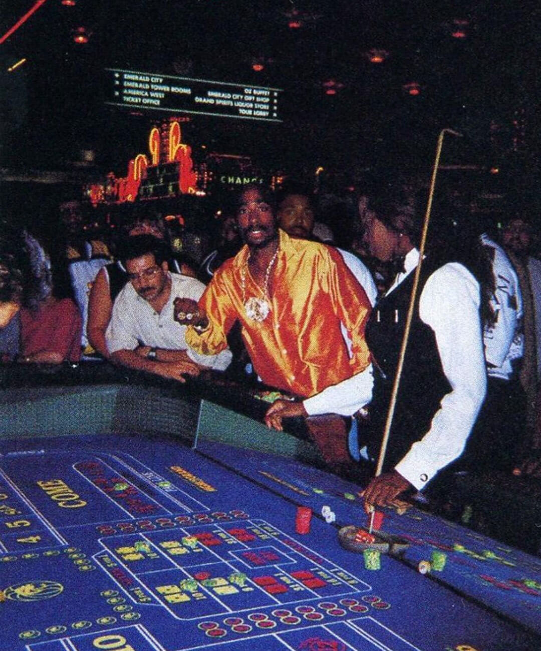 Tupac in the MGM Grand casino on September 7, 1996.
