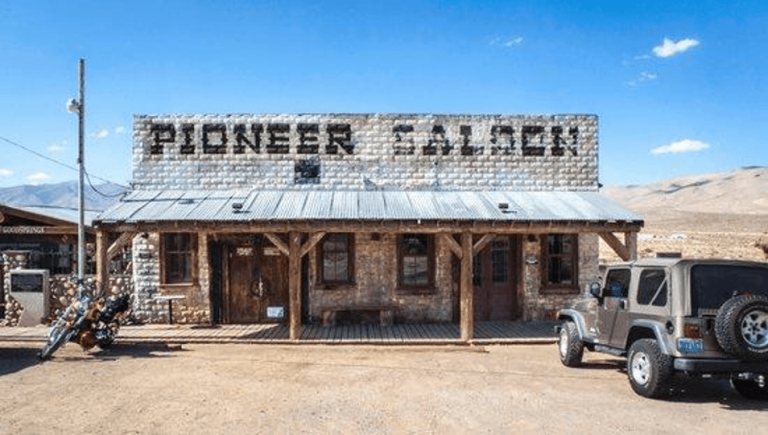The Haunted exterior of the Pioneer Saloon, opened in 1903 a huanted by cardsharps, depressed bartenders and cowboys of the olde west.