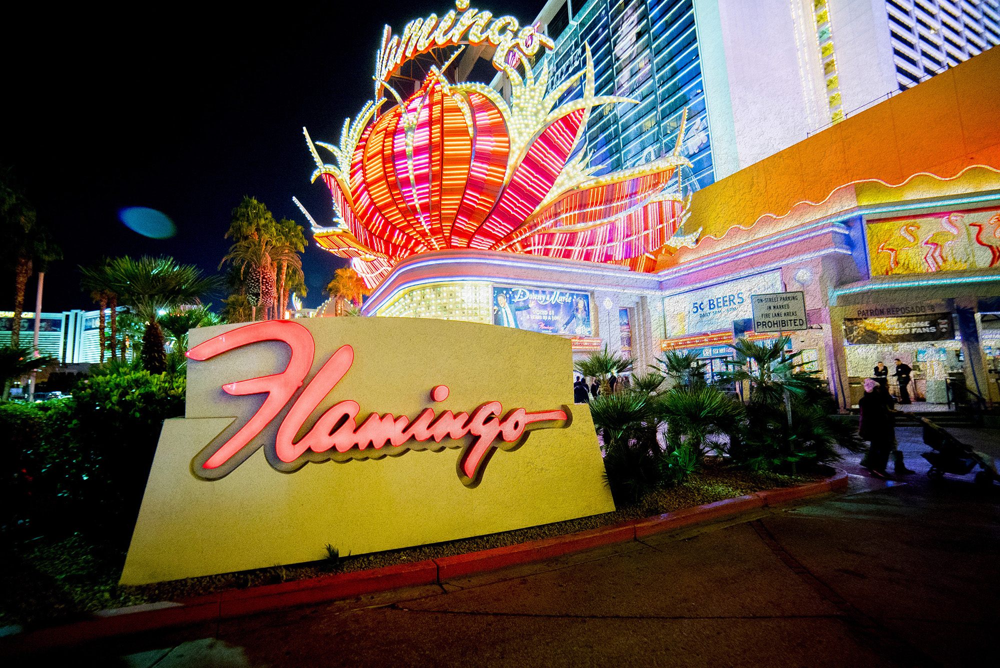 The neon flower outside the Flamingo casino has heralded good times for decades, except for some that never leave