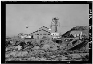 photo shows a black and white image of mizpah mine