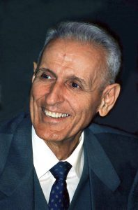 photo shows dr jack kevorkian smiling